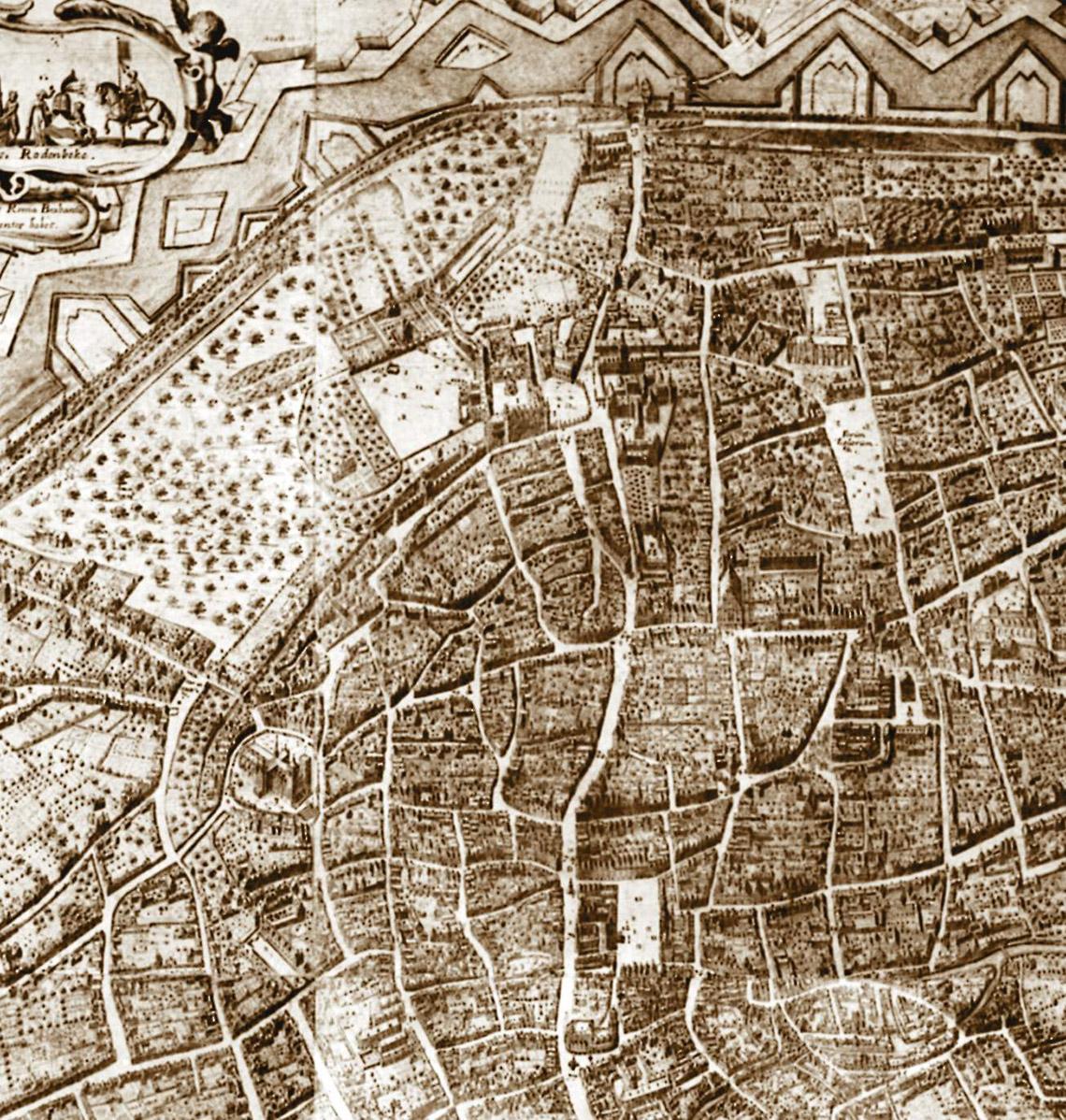 Plan De La Ville De Bruxelles Sources Palais Du Coudenberg